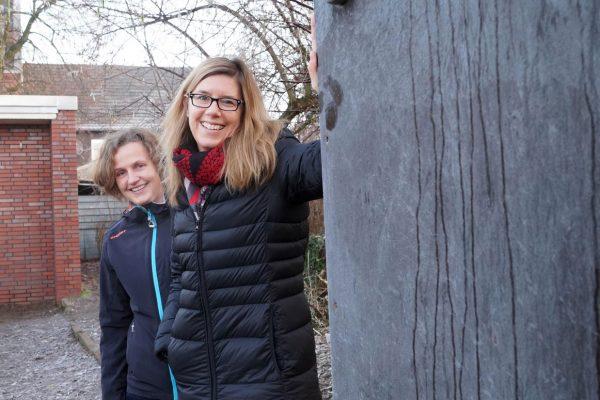 Kunsttafel zwischen Ludgerischule und Selma-Lagerlöf-Sekundarschule